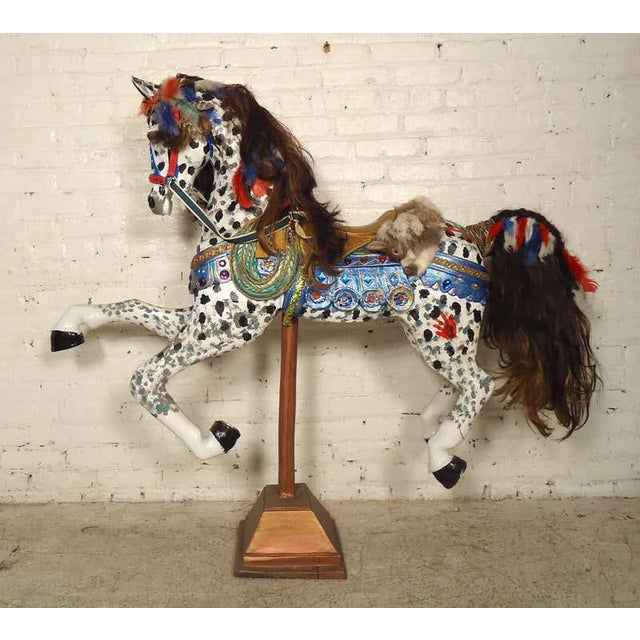 Vintage Antique Hand-Painted Wooden Horse For Sale - Image 10 of 10