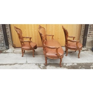 Antique French Victorian Hand Carved Parlor Set- 3 Pieces Preview