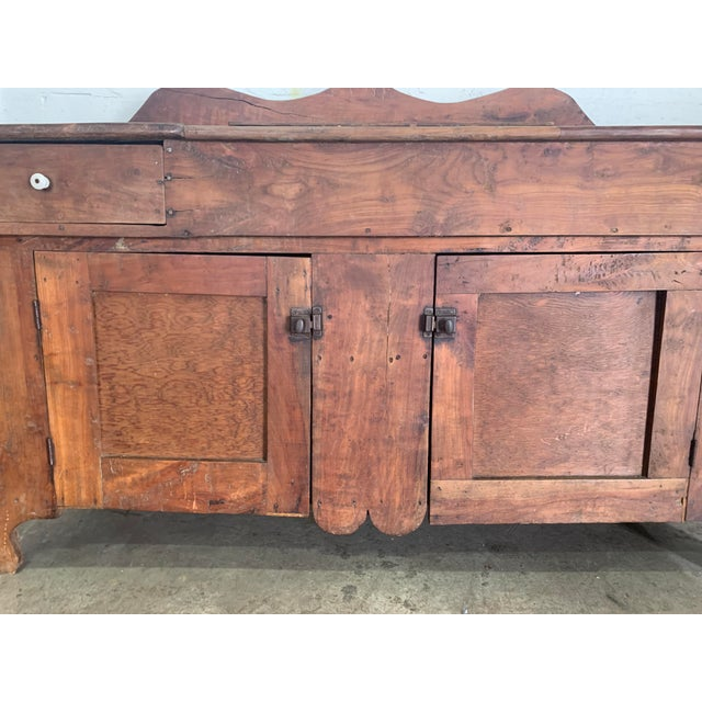 Antique Rustic Farmhouse Dry Sink For Sale - Image 4 of 9