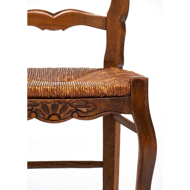 French Antique Wicker and Wood Dining Chairs For Sale - Image 5 of 10 - Exceptional French Antique Wicker And Wood Dining Chairs DECASO