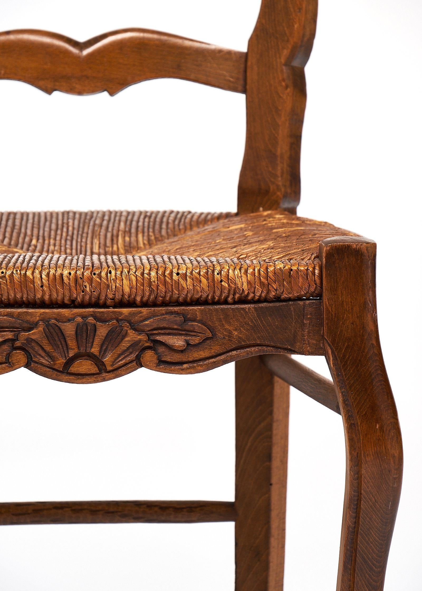 French Antique Wicker And Wood Dining Chairs   Image 5 Of 10