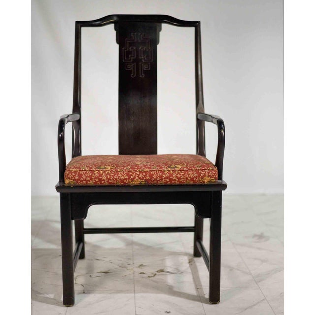 Black 1970s Chinoiserie Raymond Sobota Asian Dining Chairs by Century - Set of 8 For Sale - Image 8 of 12