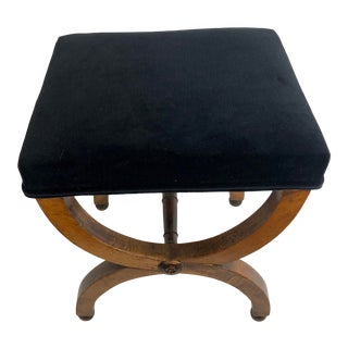 French Caarles X Walnut Curule Stool For Sale