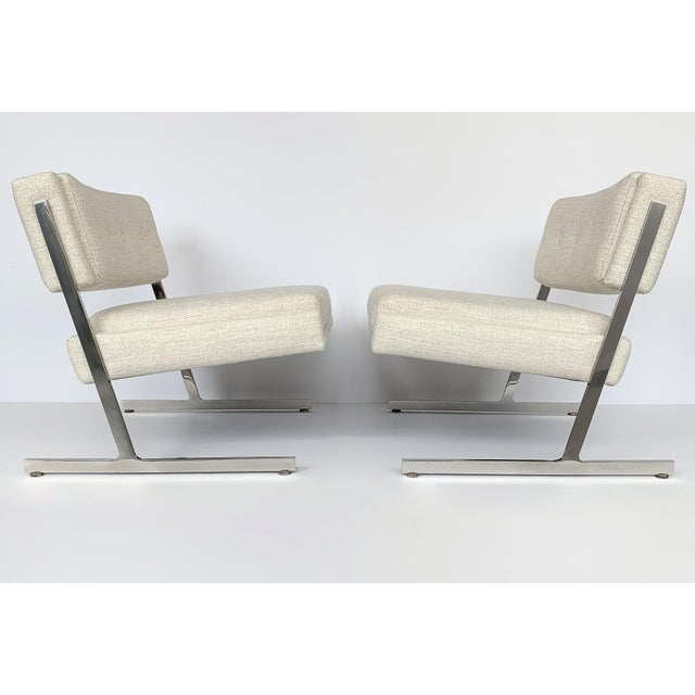 Mid-Century Modern Pair of Harvey Probber Cantilever Slipper Lounge Chairs For Sale - Image 3 of 13