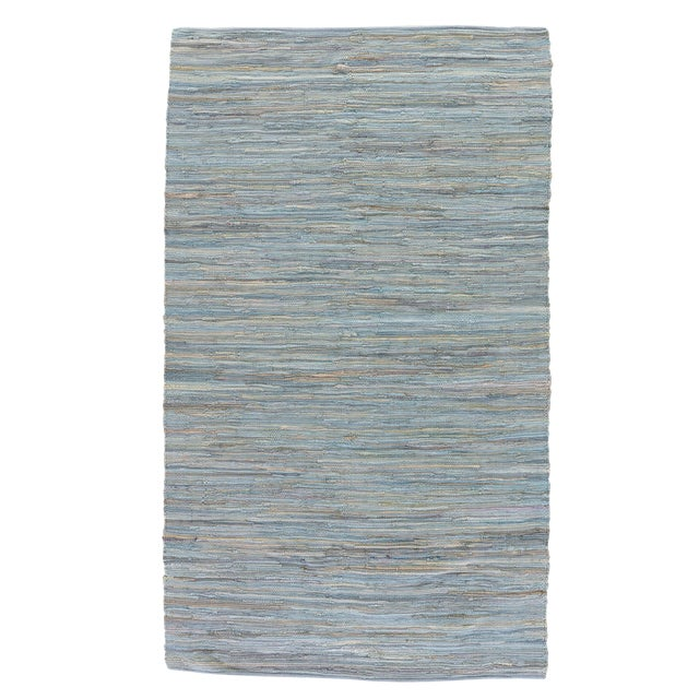 Jaipur Living Raggedy Handmade Solid Blue & Gray Area Rug - 8' X 10' For Sale
