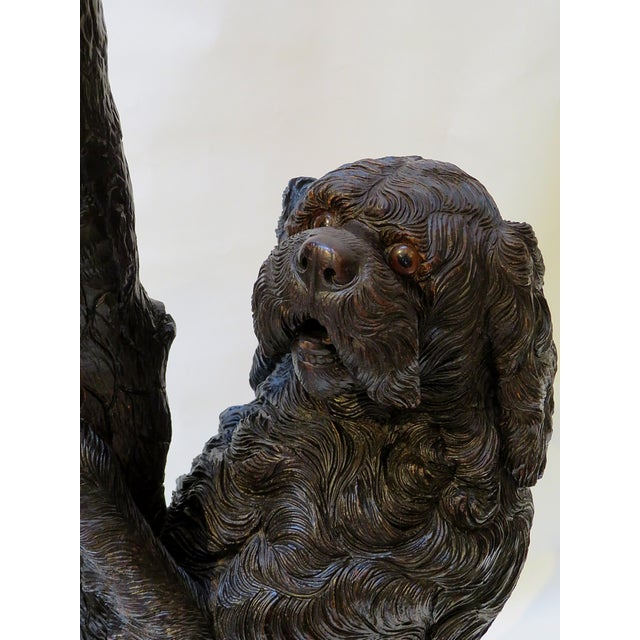 Black Forest Late 19th Century Swiss Black Forest Wood Carved Coat & Hat Rack For Sale - Image 3 of 4