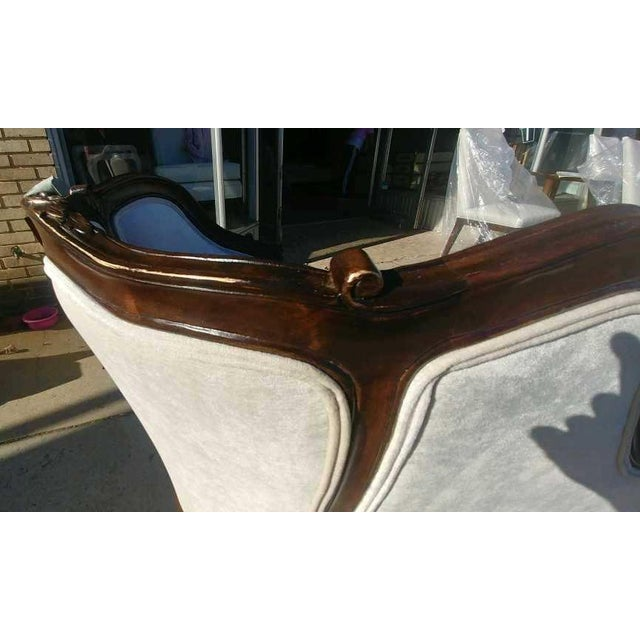 French Henredon Furniture Sabine Mahogany Left Arm Chaise For Sale - Image 3 of 12