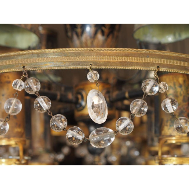 Black 18th Century French Tole and Crystal Chandelier For Sale - Image 8 of 11