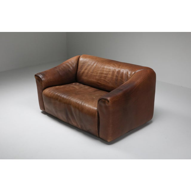 Mid-Century Modern 1970s De Sede Ds 47 Brown Leather Sofa For Sale - Image 3 of 9