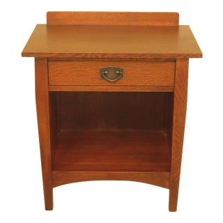 Stickley Mission Oak 1-Drawer Arts & Crafts Nightstand