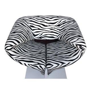 1980s Vintage Zebra Design Pierre Paulin Chair For Sale