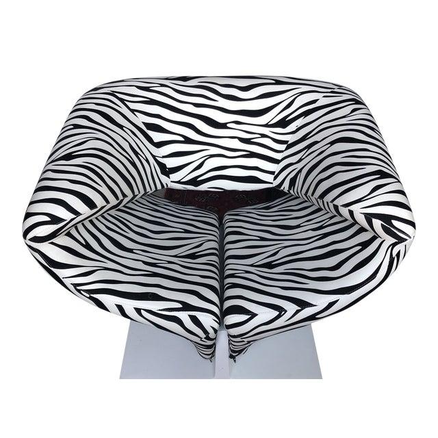 1980s Vintage Zebra Design Pierre Paulin Chair** For Sale