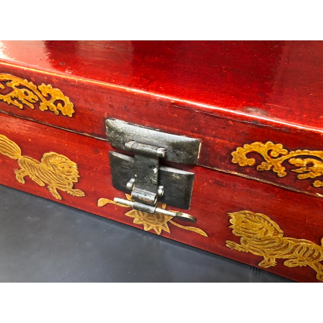 Lacquer Late 19th Century Antique Chinese Lacquered Coffee Box For Sale - Image 7 of 10