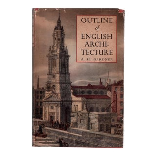 """1949 """"Outline of English Architecture"""" Collectible Book For Sale"""