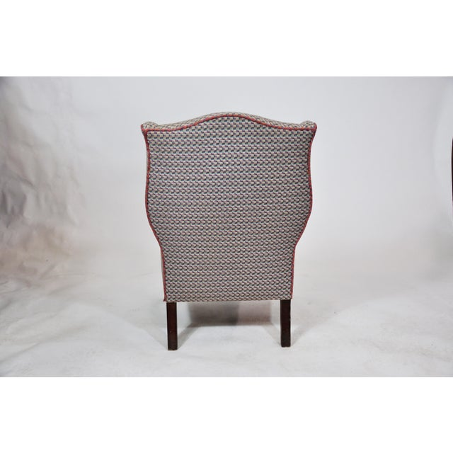 French Vintage French Kids Wing Chair Newly Upholstered For Sale - Image 3 of 13