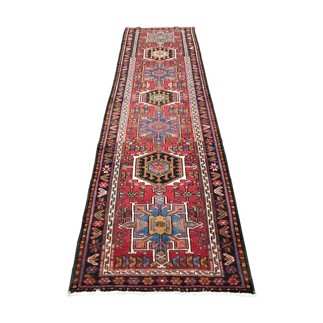 "Vintage Karajeh Persian Runner - 2'10"" X 10'4"" - Image 1 of 7"