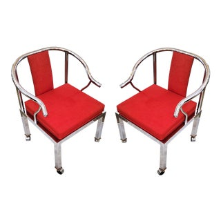 1950s Modern Chrome Chairs by Design Studio Institute For Sale