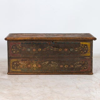 19th Century Antique Original Painted Trunk Preview