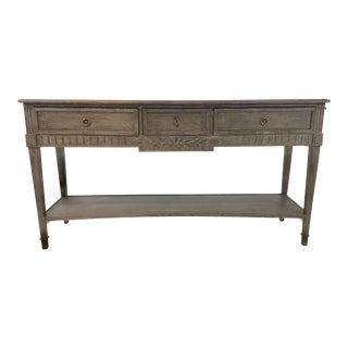 Currey & Co. French Style Ash Console Table For Sale