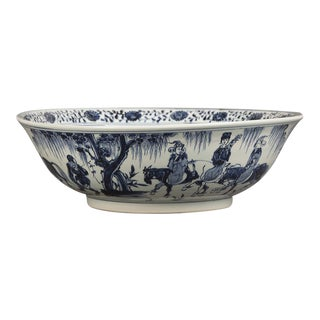 Enormous Chinese Kangxi Style Hand Painted Bowl For Sale