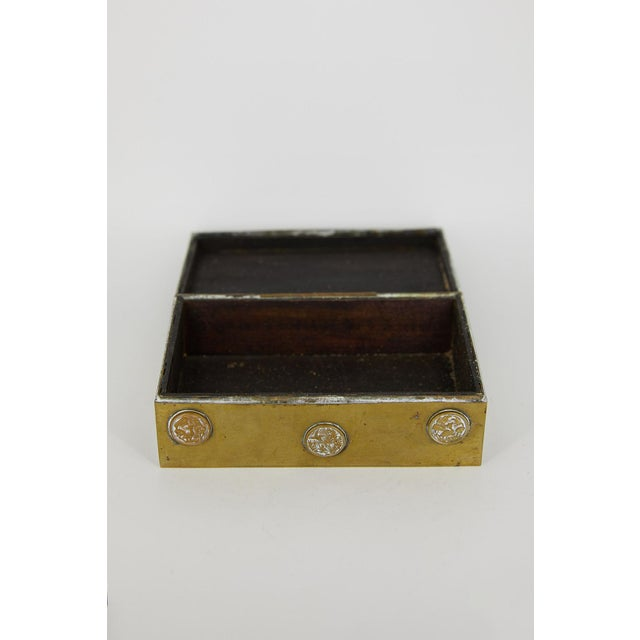 Vintage Chinese Brass and Enamel Box For Sale In Los Angeles - Image 6 of 7