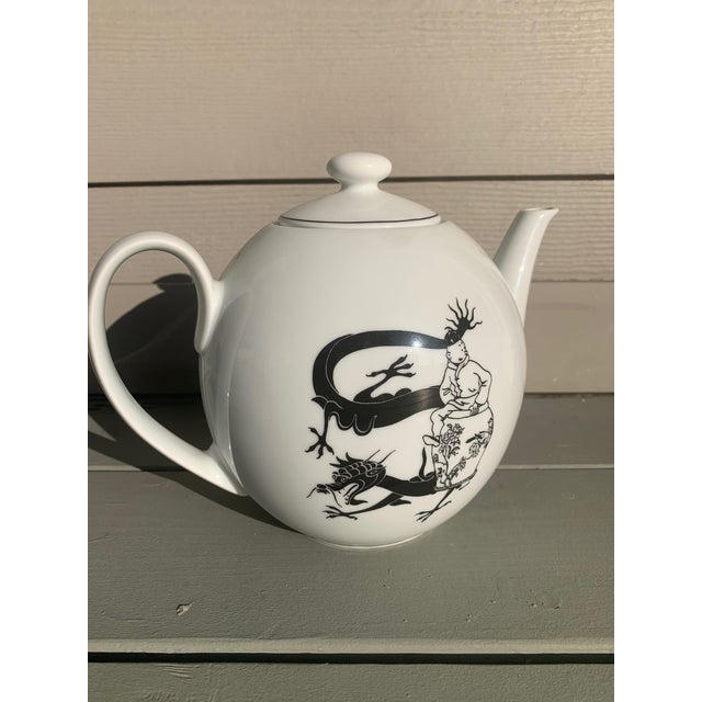 Asian Rare Tintin Large Teapot by Axis-Paris For Sale - Image 3 of 8