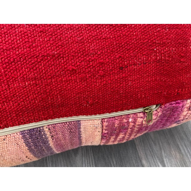 Hand Woven Berber Moroccan Pouf Cover For Sale - Image 12 of 13