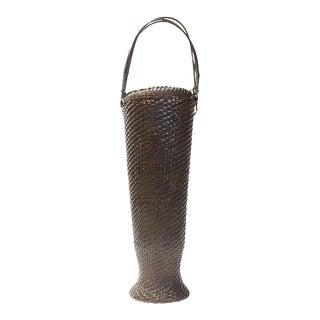 Japanese Vase Form Ikebana Basket For Sale