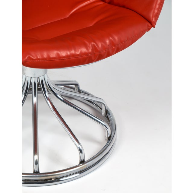 Warren Platner Style Chrome Chairs - A Pair For Sale - Image 10 of 11