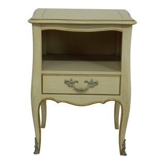 Kindel French Provincial 1 Drawer Nightstand End Table For Sale