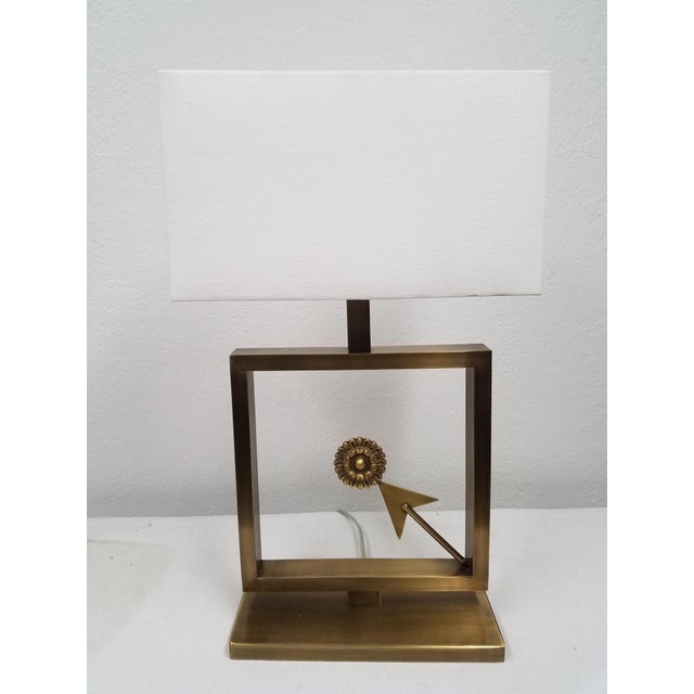 Modern Table Lamp With Arrow For Sale - Image 9 of 9