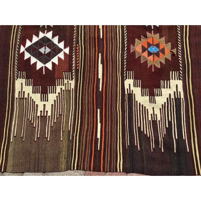 Vintagr Turkish Kilim Rug For Sale - Image 4 of 11