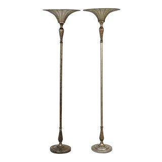 Vintage & Used Silver Floor Lamps | Chairish