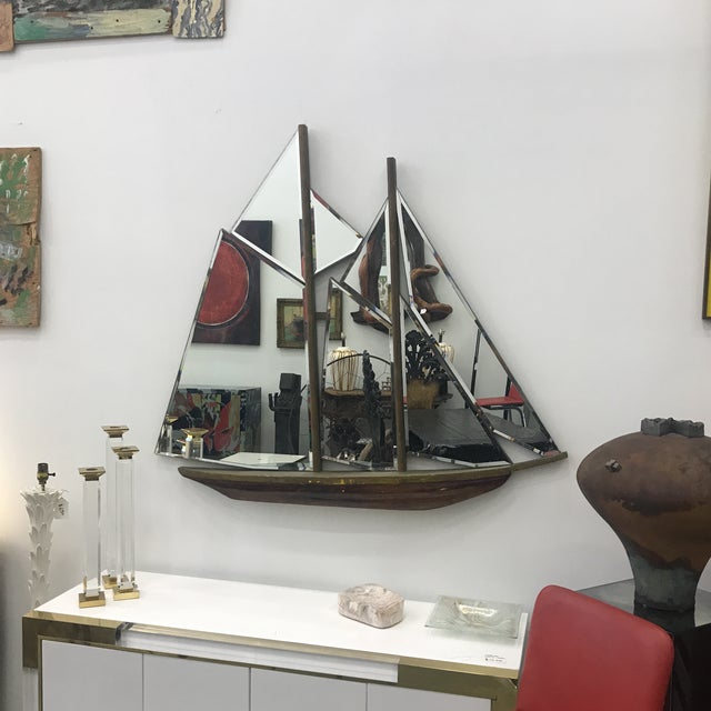 1930s Art Deco Nautical Ship Wall Mirror For Sale - Image 12 of 13