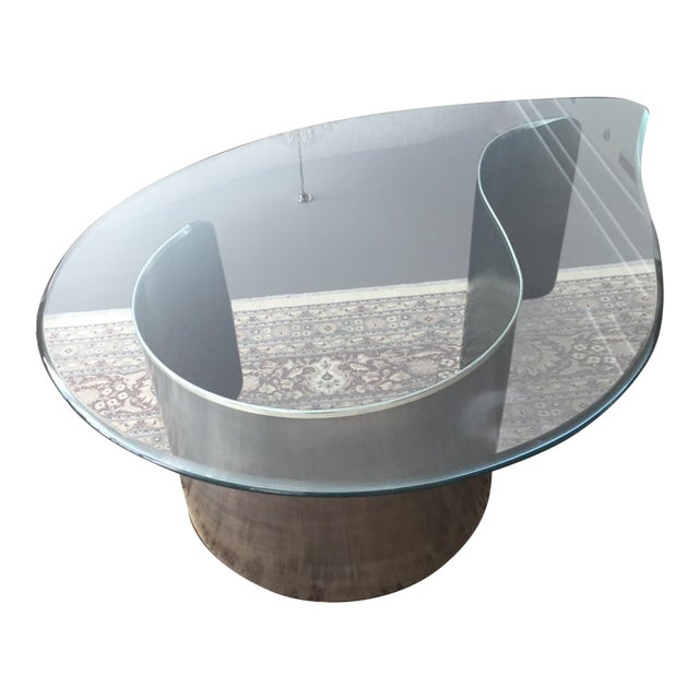 Karl Springer Style Coffee Table For Sale