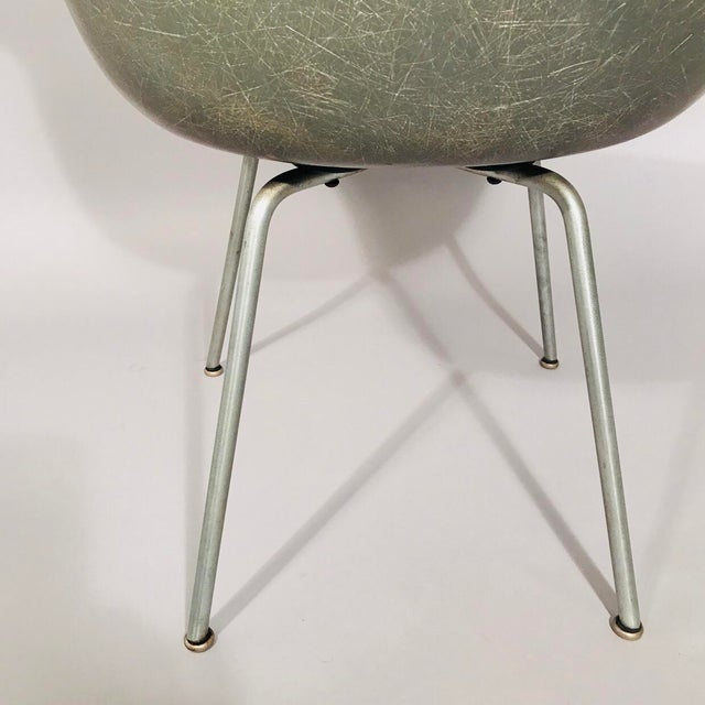 Fiberglass Eames Rope Edge Armchair For Sale - Image 7 of 12