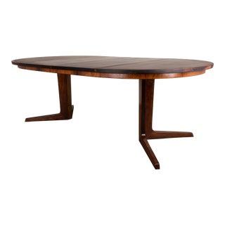 Mid-Century Vintage Gudme Mobelfabrik Rosewood Extension Table For Sale