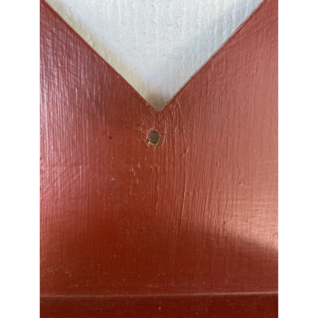 Wood Antique Farmhouse Star Wall Brackets - a Pair For Sale - Image 7 of 8