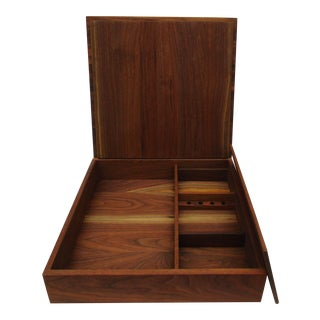 Handcrafted Black Walnut Keepsake Box Amazing Artisan Photography Jewelry Storage Box Cabinet