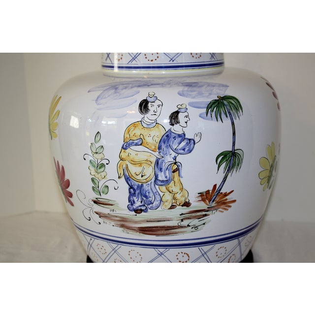 Frederick Cooper Hand-Painted Italian Lamp - Image 6 of 8