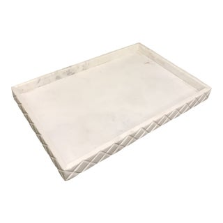 Extra Large Marble Alabaster Decorative Tray For Sale