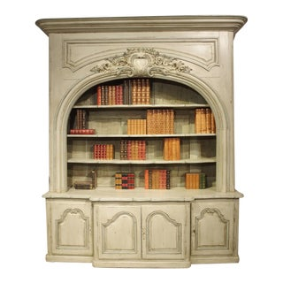 Painted Bibliotheque Enfilade From a Chateau Near Lauragais, France For Sale