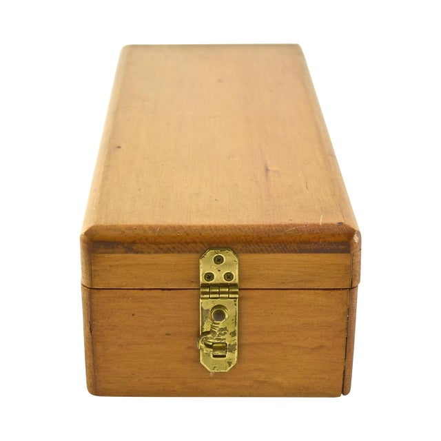 Handcrafted Wood Box with Dividers Inside - Image 1 of 7