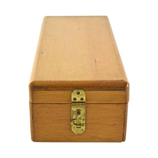 Last Call! Handcrafted Wood Box With Dividers Inside For Sale