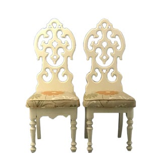 Gothic Carved Accent Chairs - A Pair