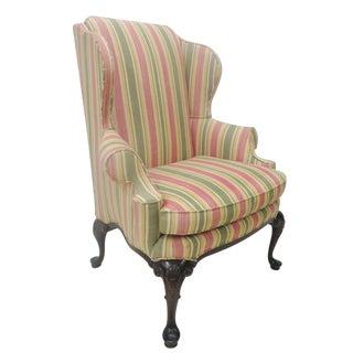 Henredon Shell Motif Wingback Chair
