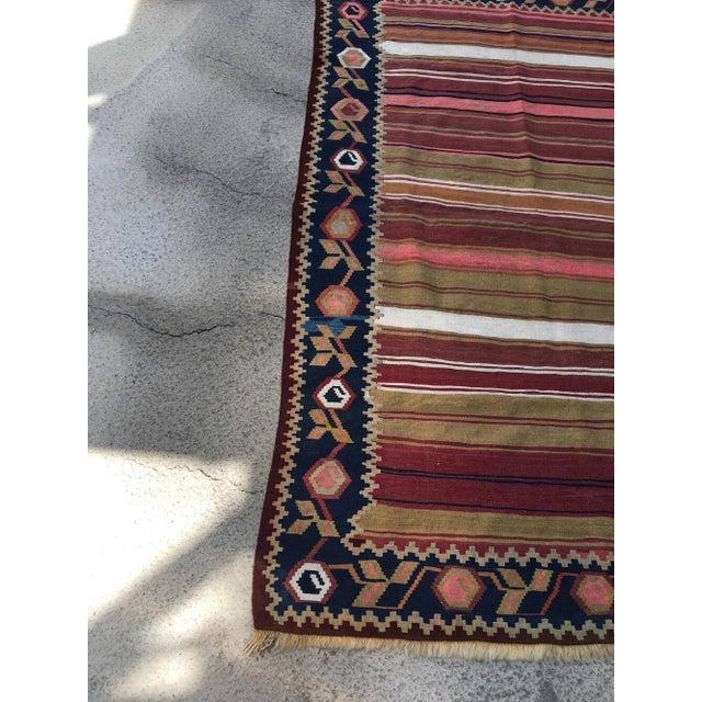 Islamic Vintage Turkish Anatolian Kilim Wool Rug - 3′11″ × 6′5″ For Sale - Image 3 of 5