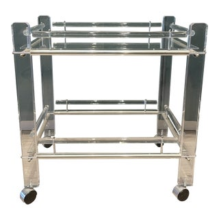 Hollis Jones Two-Tier Lucite Bar Cart With Removable Trays For Sale