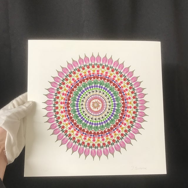 """Flower Mandala"" Print For Sale In Los Angeles - Image 6 of 9"