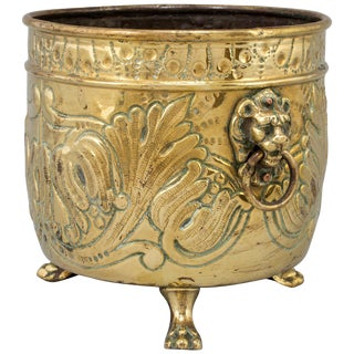 Brass Flower Pot, 19th Century, France For Sale